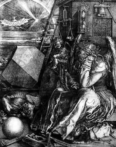 Melancholia, engraving by Durer