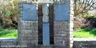 Monument at home of Thomas Ashe at Kinard