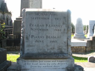 Gravestone of Thomas Ashe in Glasnevin, Dublin
