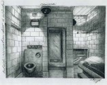 Cell for Silverstein (USP Leavenworth). Artist: ©Thomas Silverstein