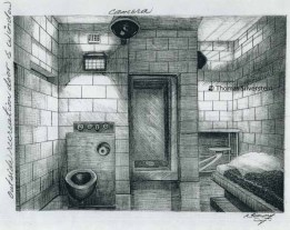 Cell for Silverstein (USP Leavenworth). Artist: ©Thomas Silverstein