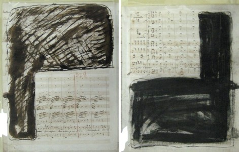 Musical score from a lost opera