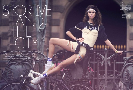 """Pauline Hoarau by DAVID BELLEMERE in """"Sport and the City"""" for Elle France"""