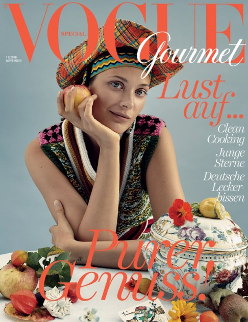 RALPH MECKE shoots Larissa Hofmann on the cover story for VOGUE Gourmet