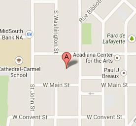 map to Lafaeytte Parish Correctional Center