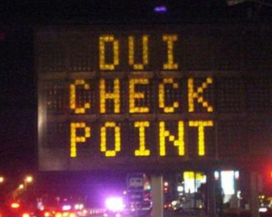 drunk driving checkpoint sign
