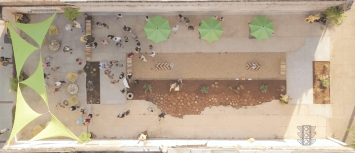 UnVacant Lot Aerial AFTER NEA Grant
