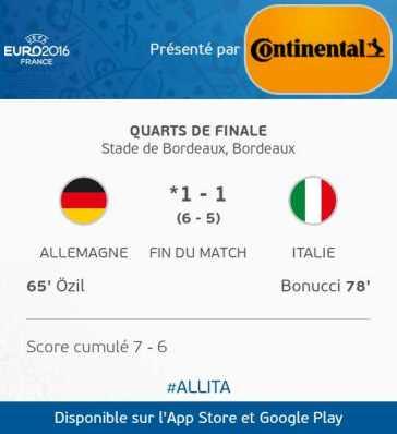 Allemagne *1 - 1 Italie