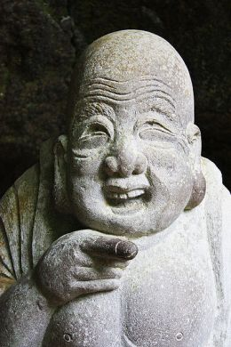 Hotei, god of happiness at J?chi-ji temple