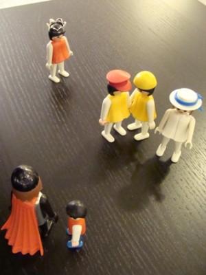 Romanaufstellung mit Playmobilfiguren
