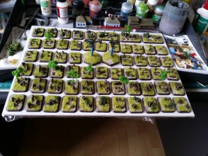 The soviet infantry on the spray board ready for varnishing