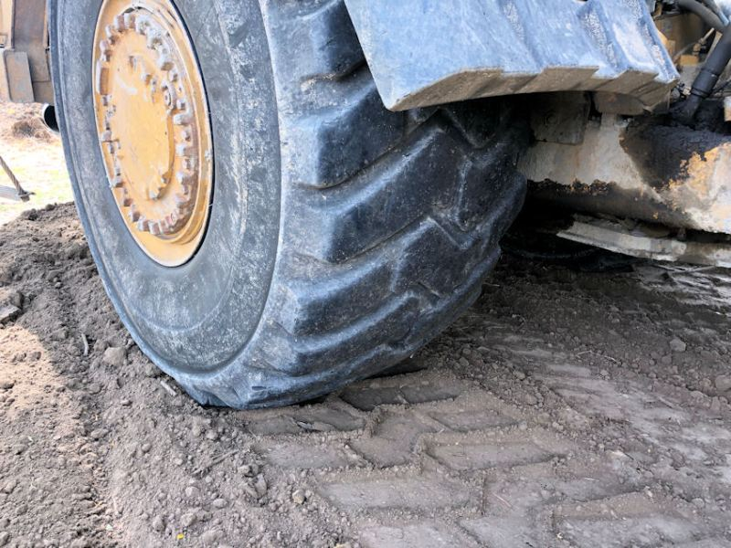 2012 Caterpillar 627H Left Front Tire