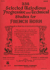 Andraud / Pottag -- 335 Selected Melodious Progressive and Technical Studies for French Horn, Book 2