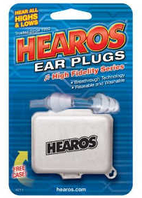 Hearos High Fidelity Ear Plugs—Designed for Musicians