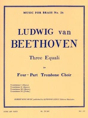 Beethoven --- 3 Equali for Trombone Quartet