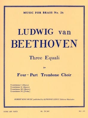Beethoven --- 3 Equali for Trombone Quartet