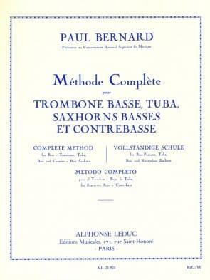 Bernard, Paul - Method for Bass Trombone