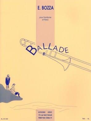 Bozza, Eugene - Ballade for Trombone and Piano
