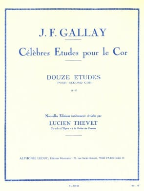Gallay, J.F. - OP. 57 12 Etudes for 2nd (low) Horn
