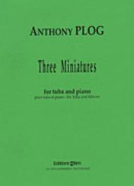 Plog, 3 Miniatures for Tuba - Piano Reduction