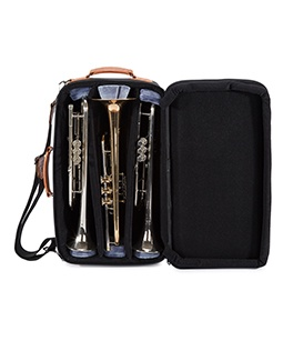 5-ECSK Gard Elite Compact Triple Trumpet Gig Bag Synthetic with Leather Trim