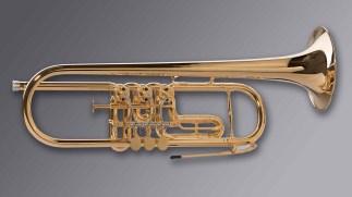 "Oberrauch Rotary Trumpet in Bb Model ""Uberetsch"""