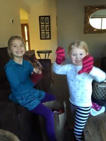 Ellie in love with Fia's gloves