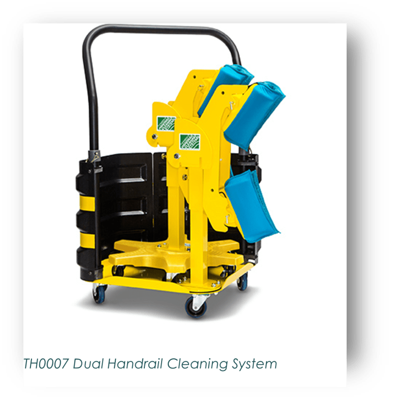 Dual Handrail Cleaning System