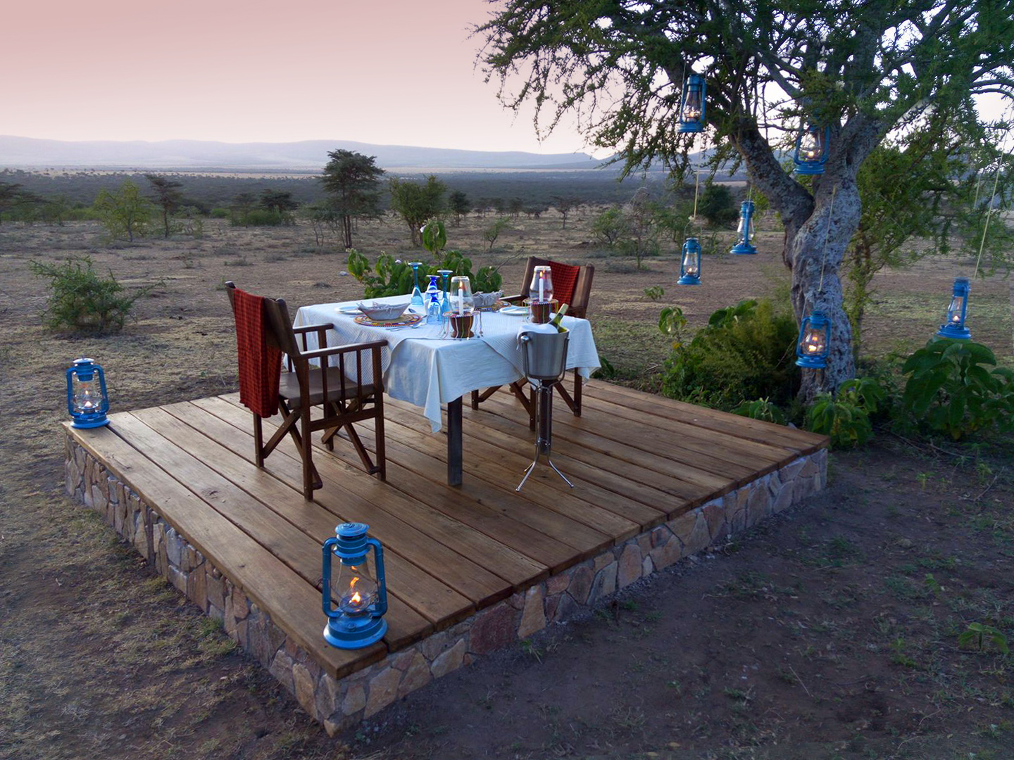 private dining in the serengeti