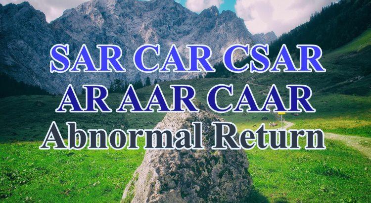 abnormal return scaled - cách tính abnormal return lợi nhuận bất thường AR