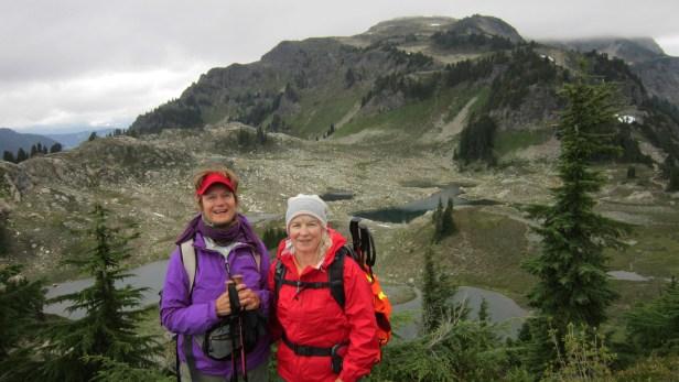 Pam hiking with author-artist Rae Ellen Lee.jpg