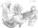prise en charge d'une victime irradiée et brûlée