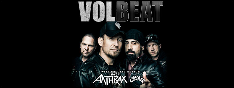 Incoming: Volbeat + Anthrax @ Cepsum (Montréal)
