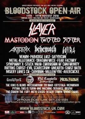 Incoming: Bloodstock Open Air @ Walton-upon-Trent (UK)