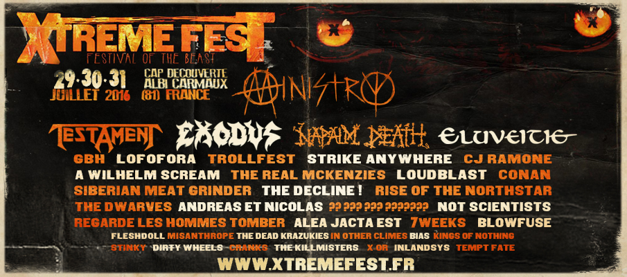 Incoming : Xtreme Fest @ Carmaux (France)