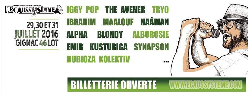 Incoming : Festival L'Ecaussyteme @ Gignac (France)