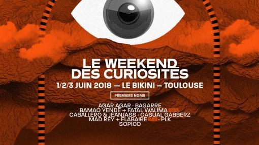 """<span class=""""entry-title-primary"""">Weekend des Curiosités 2018 : Programmation hétérogène</span> <span class=""""entry-subtitle"""">@ Le Bikini (Toulouse)</span>"""