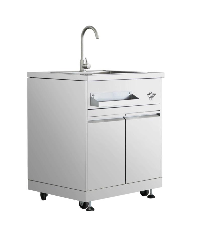 outdoor kitchen sink cabinet in