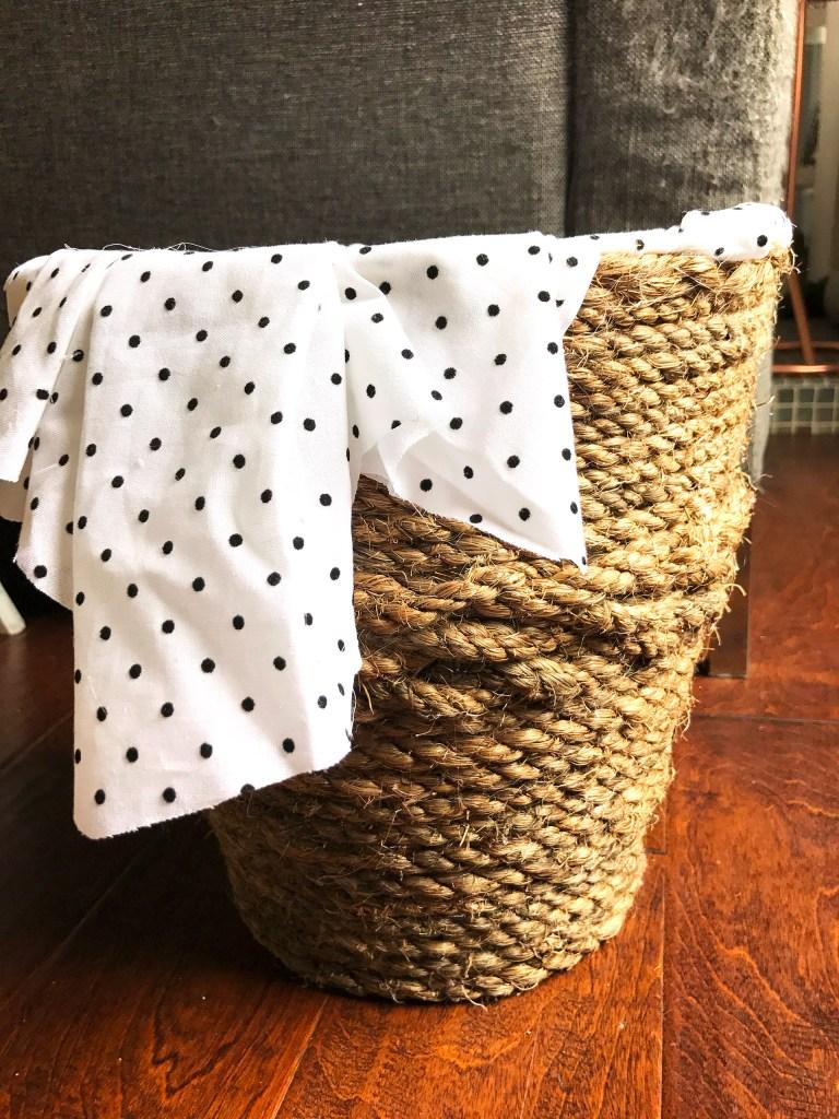 DIY Rope Dog Toy Basket