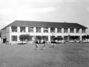 Rear of school