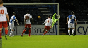 Chris Whelpdale's winner for Stevenage at the Memorial Stadium earlier on this season.