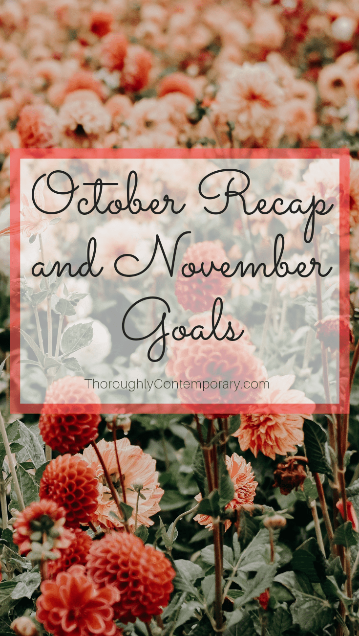 I'm sharing how my October goals went and setting new goals for November!