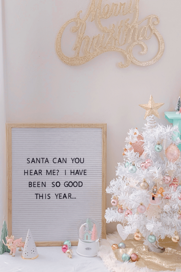 Cute Pastel Christmas Decor in a small area