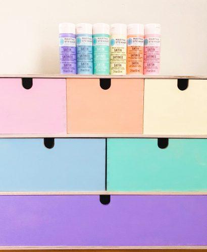 Ikea Hack Pastel Rainbow Storage Chest