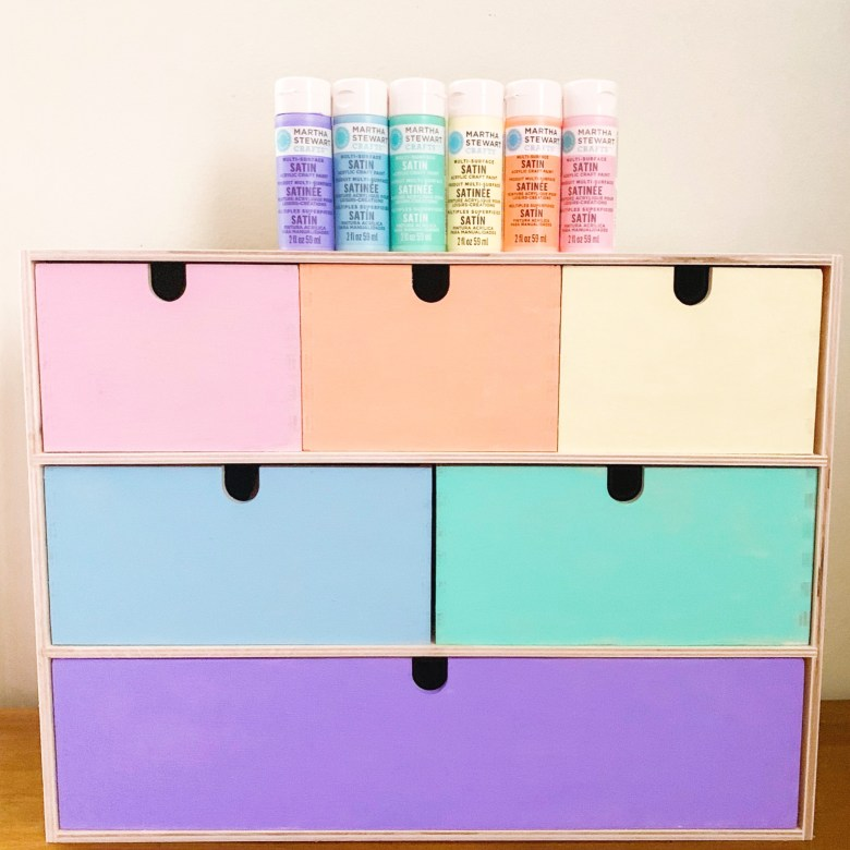 Ikea Hack Pastel Rainbow Storage Chest