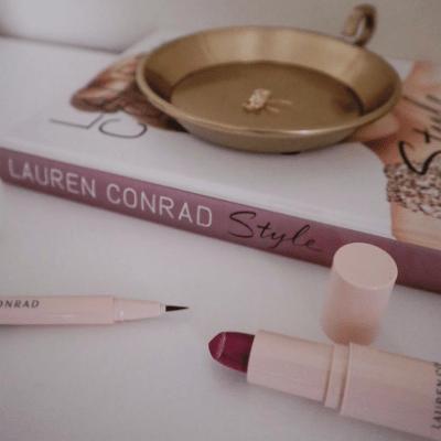 Lauren Conrad beauty eyeliner and lipstick