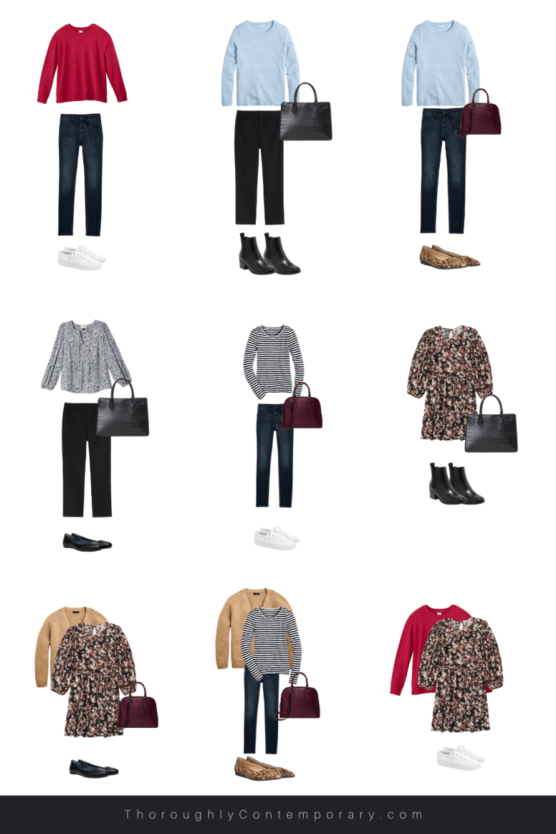 Ways to wear pieces in a fall capsule wardrobe