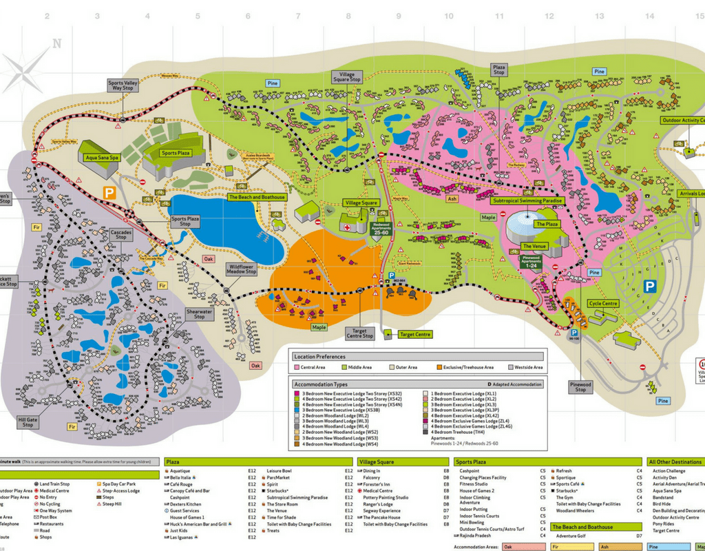 Centre Parcs Map Center Parcs Longleat, Overview of 5 of our Favourite Activities