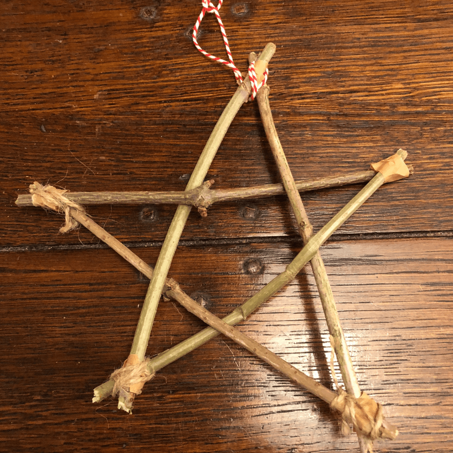 Twig Star Christmas Decoration