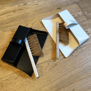 Metal dustpan and brush